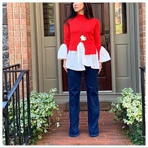 Sweaters - ✨PARIS✨Red Stunning shirted sweater